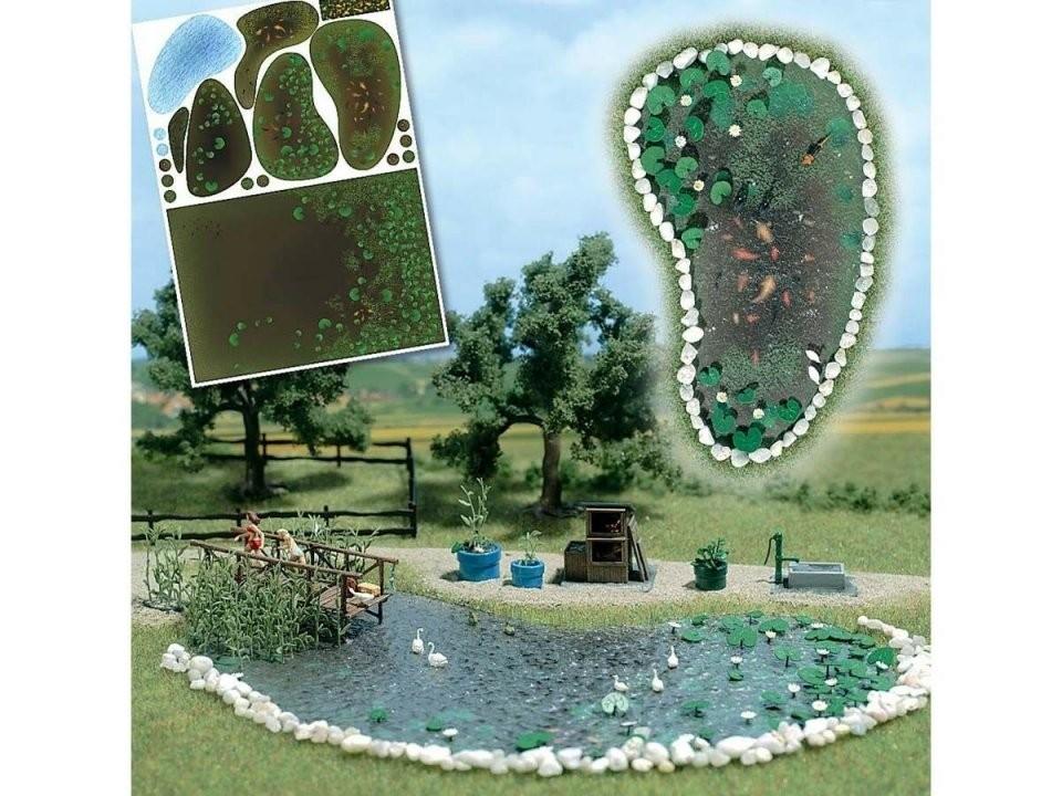 Busch H0 1210 Gartenteichset Bausatz von Gartenteiche Aus Kunststoff Gebraucht Bild