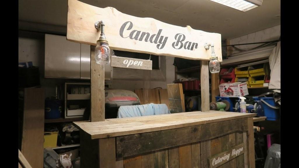 Candy Bar Selber Bauen Aus Paletten Teil 4  Youtube von Theke Aus Europaletten Anleitung Bild