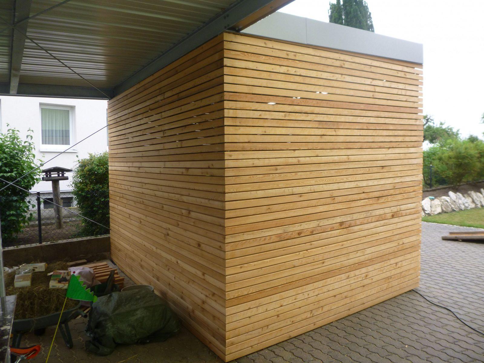 Carporthütte Mit Rhombusleisten Bauanleitung Zum Selber Bauen  Ext von Sichtschutz Lärche Selber Bauen Bild