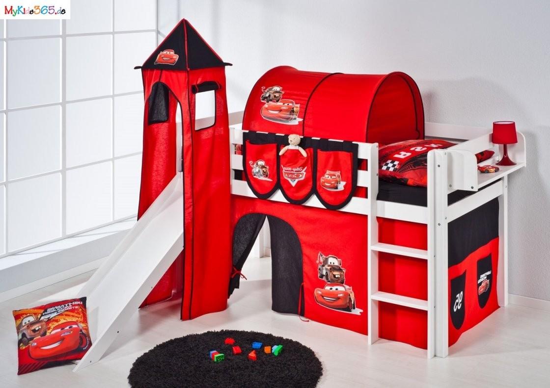 Cars Das Bett Set Für Kleine Rennfahrer Kinderund Spielbett Cars von Cars Hochbett Vorhang Set Bild