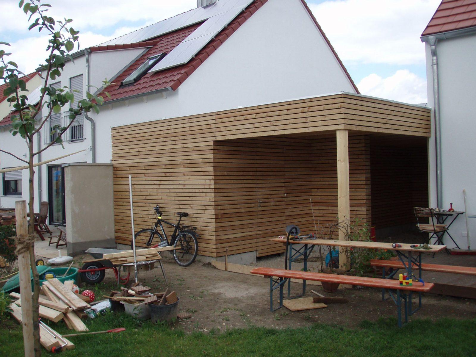Chiemgau Werkstatt  Carport In Regensburg (Diy Garden Shelter von Carport Am Haus Modern Photo