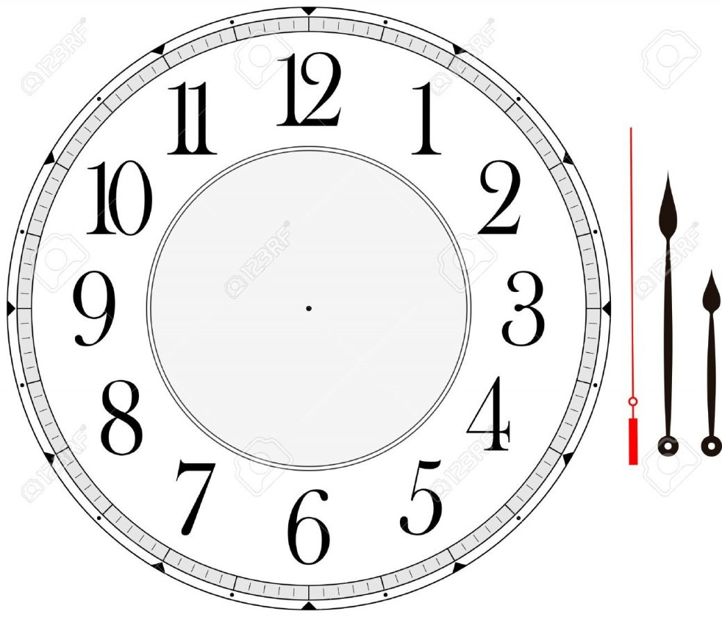 Clock Face Template With Hour Minute And Second Hands To Make von Make Your Own Clock Bild