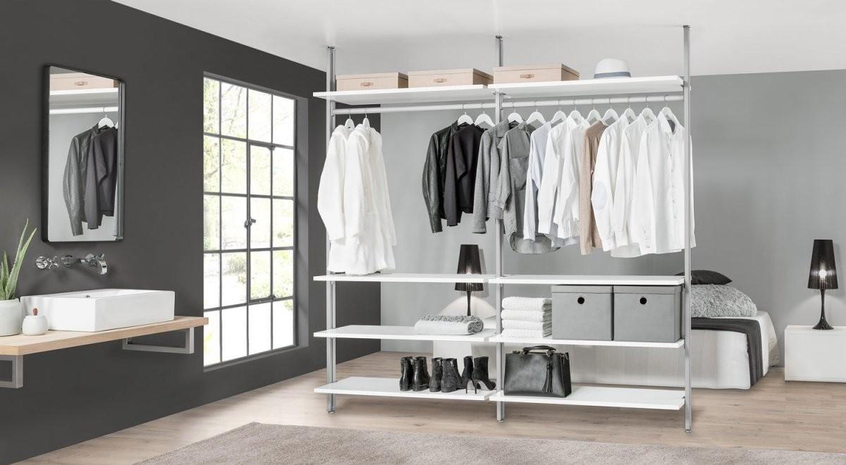 Closit W354 Regalsystem  299X228X46 Cm  Weiß Eiche von Regalsystem Kleiderschrank Selber Bauen Bild