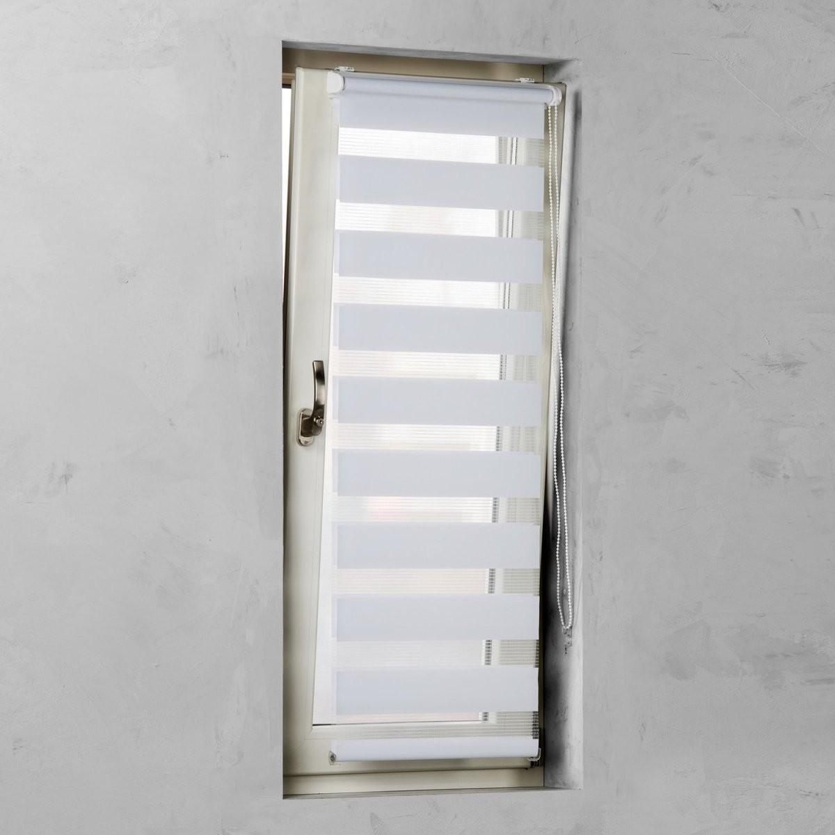 Cocoon Easy Fix Doppelrollo Tageslicht Weiß 45 Cm X 150 Cm Kaufen von Doppelrollo 75 Cm Breit Bild