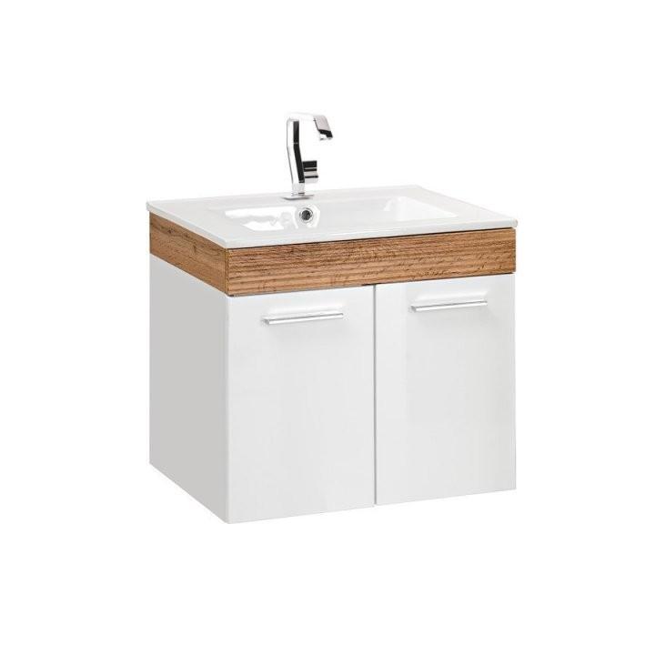 Comad Aria Waschtisch Mit Unterschrank Weißhochglanz 50Cm  Badelegant von Waschtisch Mit Unterschrank 50 Cm Photo