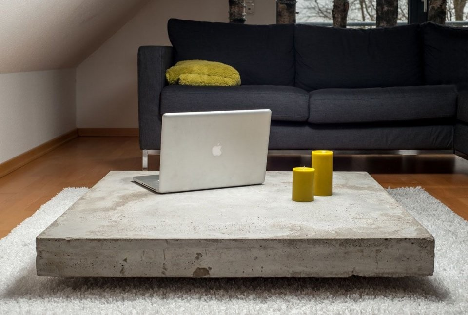 Concrete Coffee Tables You Can Buy Or Build Yourself  Diy Furniture von Couchtisch Beton Selber Machen Photo
