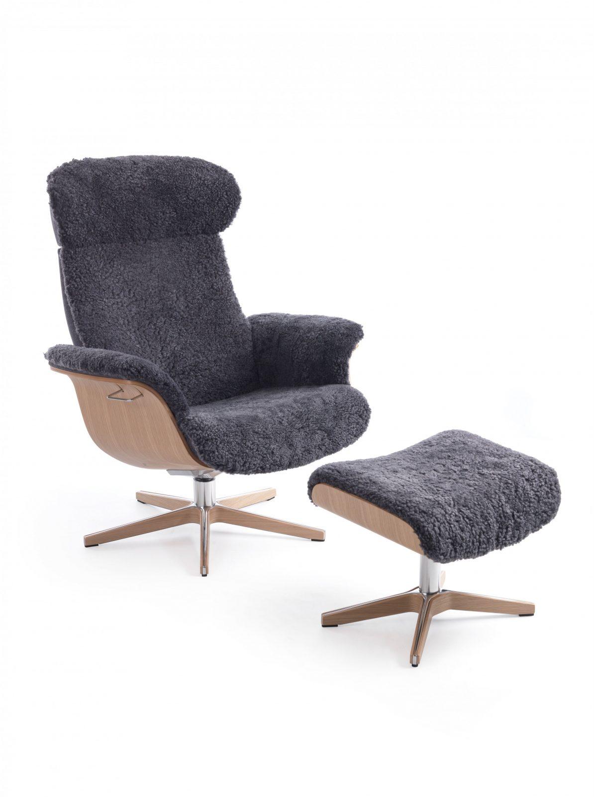 Conform Timeout Relaxsessel Und Hocker Xfuß Aluminium Mit Holz In von Relaxsessel Mit Hocker Ikea Bild