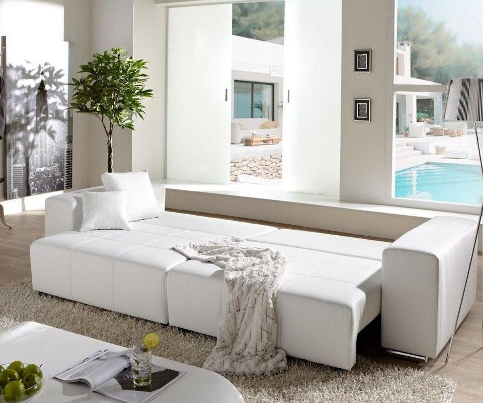 Couch Marbeya Weiss 290X110 Cm Mit Schlaffunktion Bigsofa von Big Sofa Mit Schlaffunktion Und Bettkasten Bild