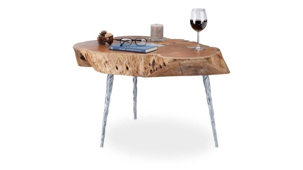Couchtisch Holz Mit Baumscheibe  Youtube von Tisch Baumscheibe Selber Bauen Bild