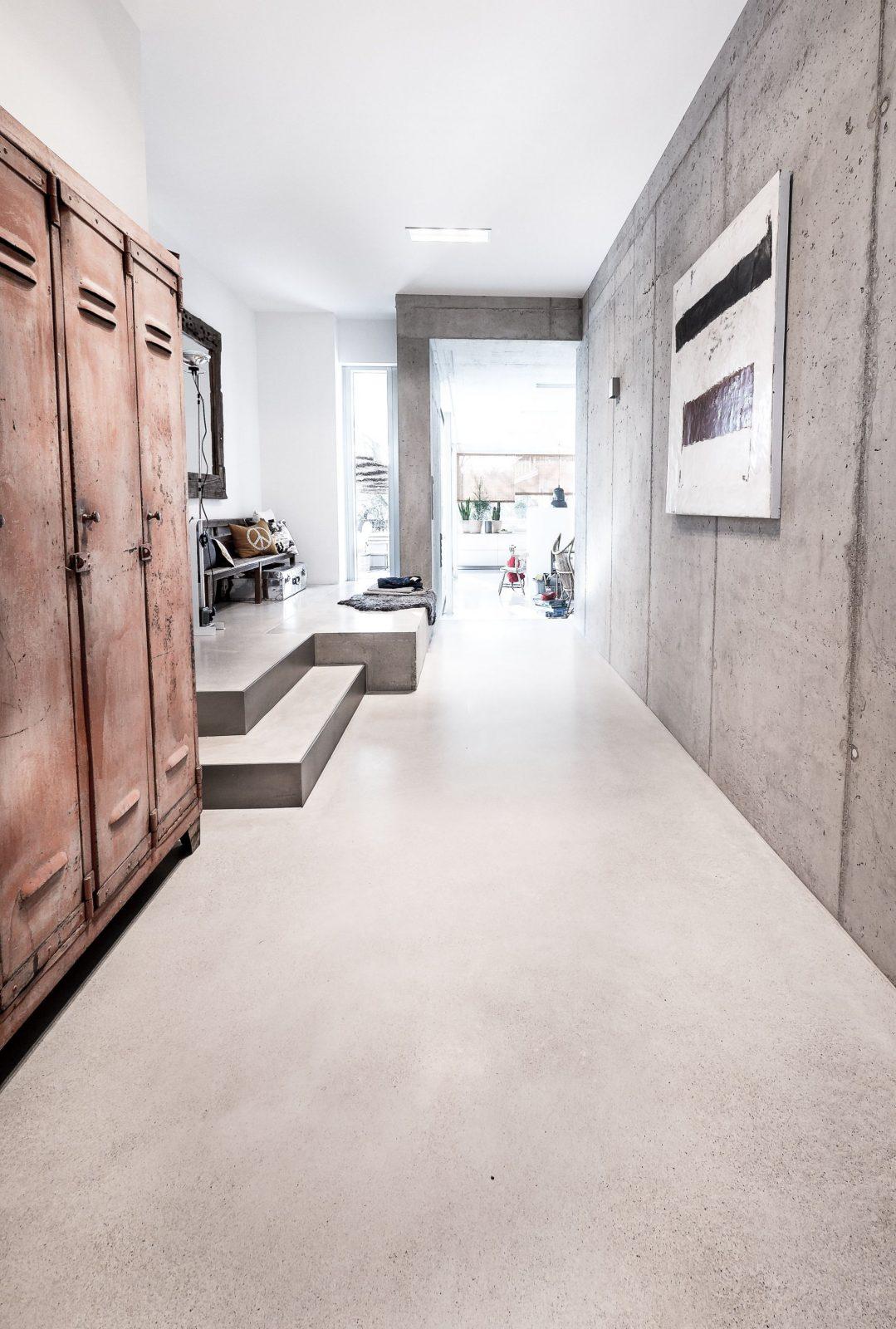 Creafloor® Design Estrich Hausflur Designboden Sichtestrich  Floor von Geschliffener Estrich Als Bodenbelag Bild