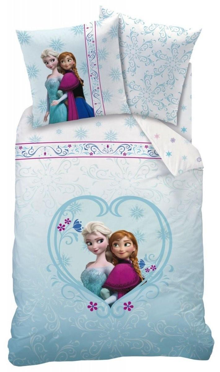 Cti 42936 Bettwäsche Disney Frozeneiskönigin 135X200+80X80Cm 100 von Anna Und Elsa Bettwäsche Biber Bild