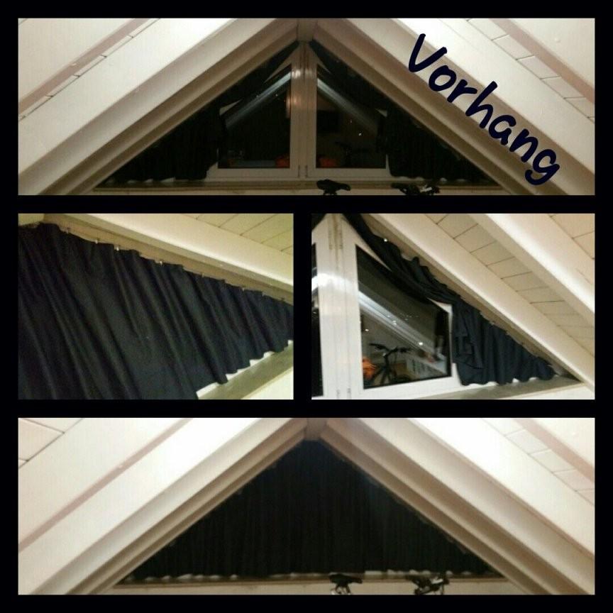 Da Es Einen Vorhang Für Ein Dreiecksfenster Nicht Zu Kaufen Gibt von Jalousien Für Dreieckige Fenster Bild