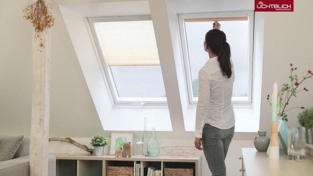Dachfenster Plissee Haftfix Sonnenschutz Ohne Bohren Mit Saugnapf von Velux Dachfenster Plissee Ohne Bohren Photo
