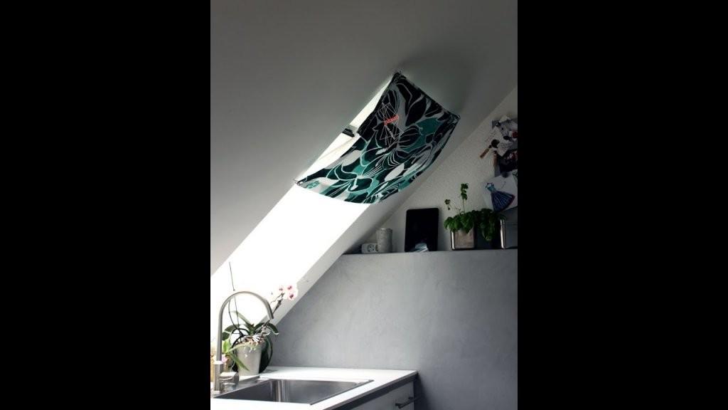 Dachfenster Vorhang Nähen Anleitung Mit Kostenlosem Schnitt  Youtube von Gardinen Für Dachfenster Ideen Photo