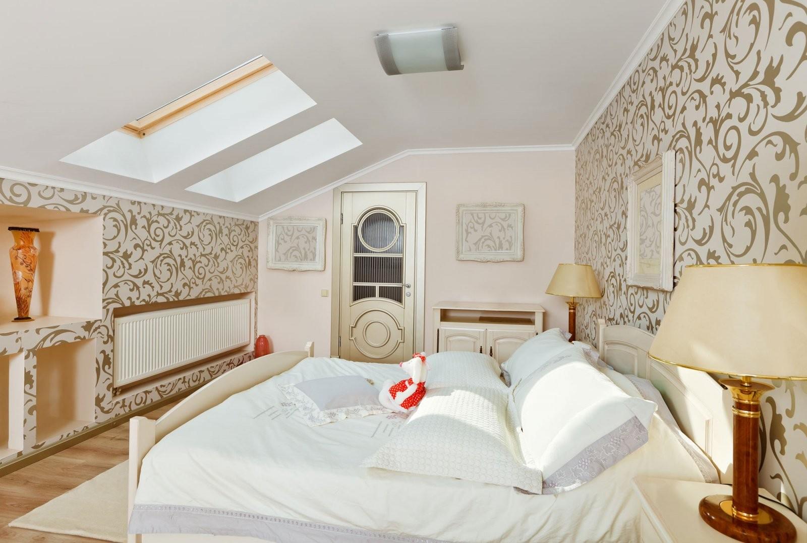 Dachschrägen Tapezieren  Tapetenauswahl Ideen  Vorgehensweise von Fototapete Für Schräge Wände Bild