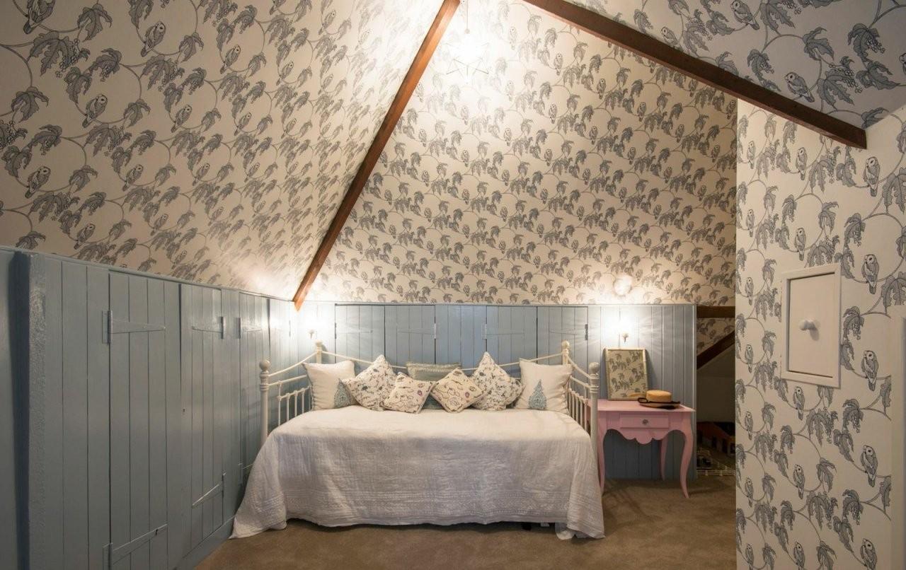 Dachschrägen Tapezieren  Tapetenauswahl Ideen  Vorgehensweise von Zimmer Mit Dachschrägen Tapezieren Photo