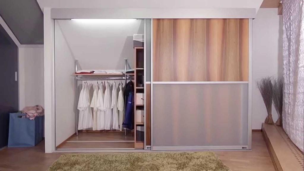 Dachschrägenschrank Von Aufzu  Youtube von Begehbarer Kleiderschrank Dachschräge Selber Bauen Photo