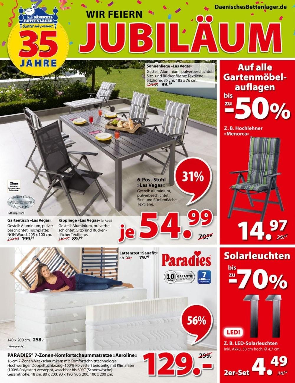 Dänisches Bettenlager Aktueller Prospekt 1305  19052019 von Angebote Dänisches Bettenlager Gartenmöbel Bild