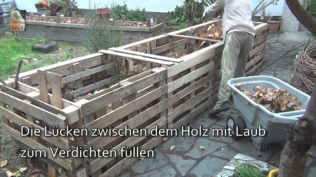 Das 5Qm Europaletten Hochbeet Howto  Youtube von Hochbeet Selber Bauen Youtube Photo