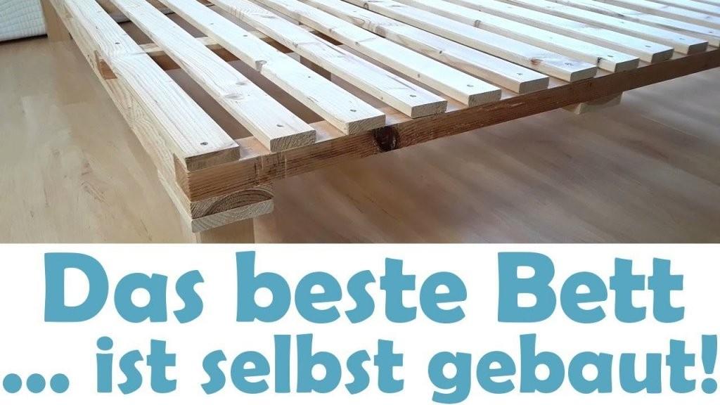 Das Beste Minimalistische Bett Ganz Einfach Selber Bauen Diy von Lattenrost 140X200 Selber Bauen Bild