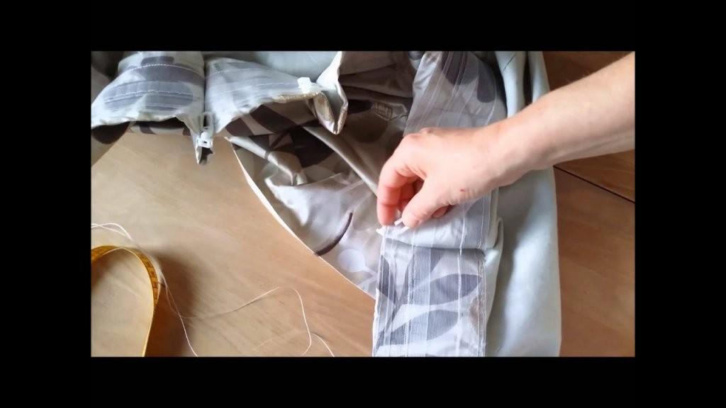 Das Geheimnis Der Gardinenhaken  Youtube von Gardinen Mit Kräuselband Aufhängen Bild