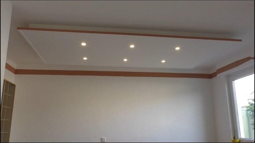 Decke Abhängen Und Led Strahler Und Led Strips Light Einbauen von Abgehängte Decke Selber Bauen Bild