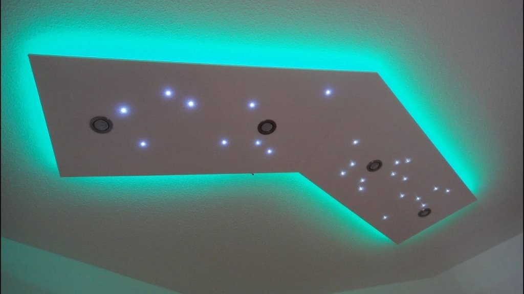 Deckenleuchte Selber Bauen  Direktes Und Indirektes Led Licht  Youtube von Sternenhimmel Lampe Selber Bauen Bild