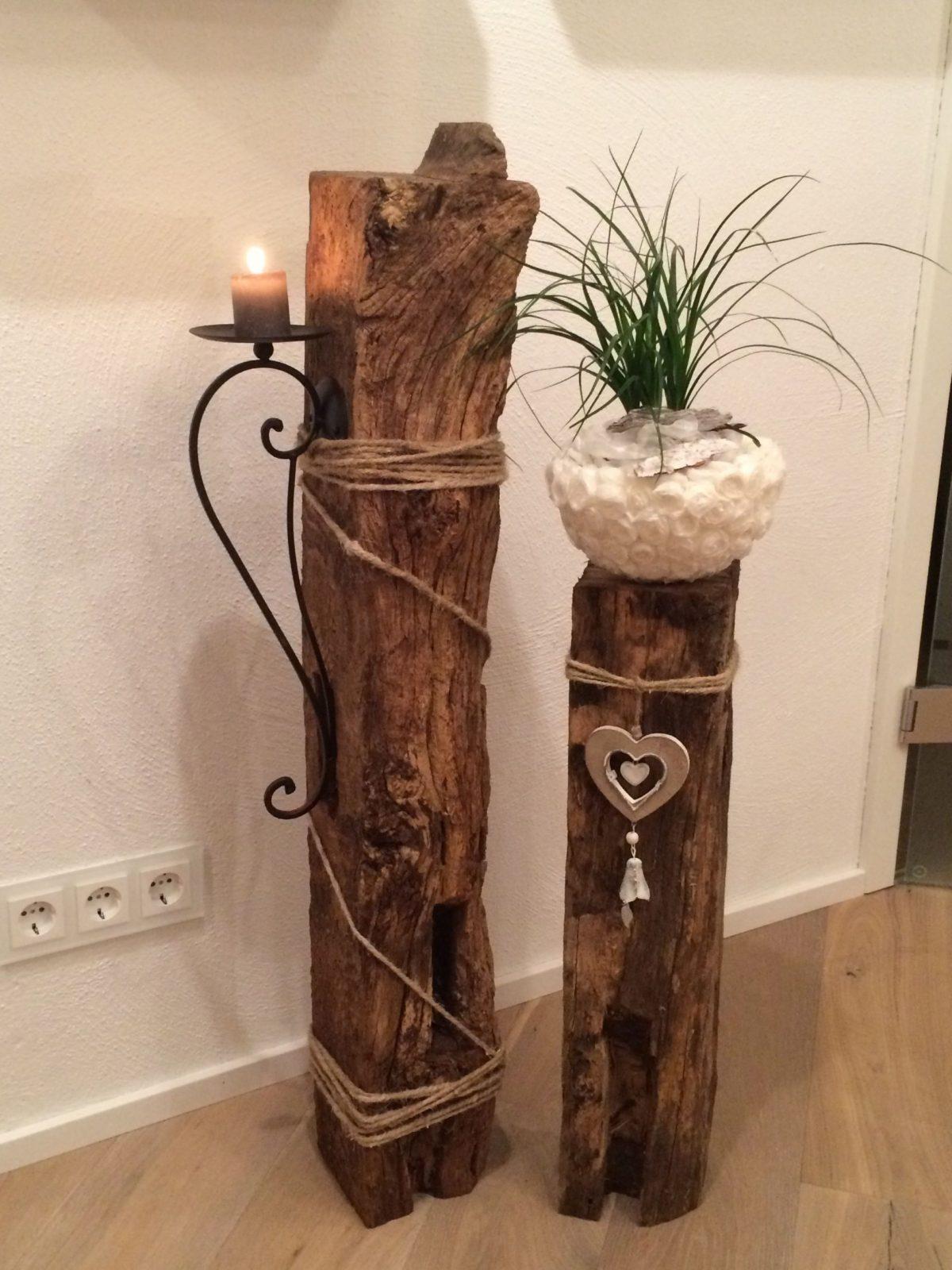 Deko Innen  Things I Want To Make  Holz Deko Selber Machen von Holz Kerzenständer Selber Machen Photo