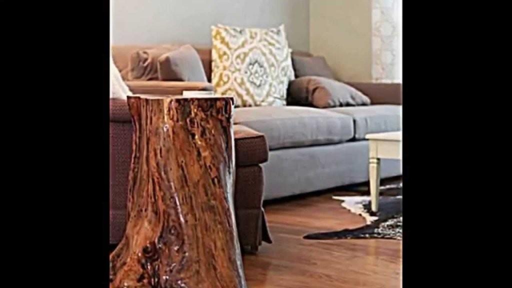 Deko Und Möbel Aus Baumstamm Selber Machen  15 Schnelle von Tisch Aus Baumstamm Selber Machen Bild