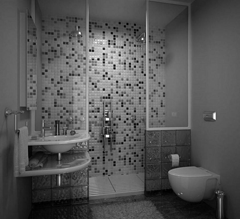 Delightful Badezimmer Ideen Grau 13 Bad Grau Weiß Gefliest von Bad Grau Weiß Gefliest Photo