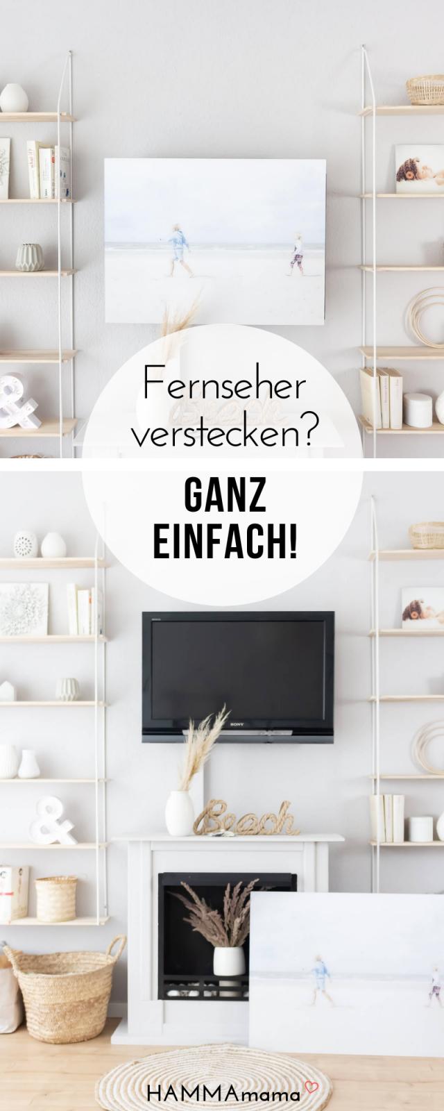 Den Fernseher Verstecken Mit Posterxxl  Die Frage Was Macht Einen von Fernseher Im Wohnzimmer Verstecken Bild