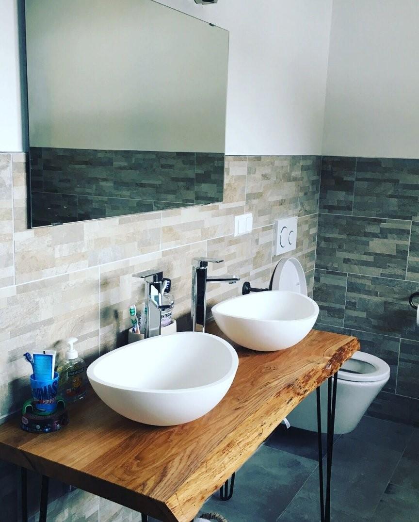 Der Waschtischplatten ᐉ Konfigurator Mit Oder Ohne Baumkante Jede von Waschtisch Holz Mit Aufsatzwaschbecken Photo