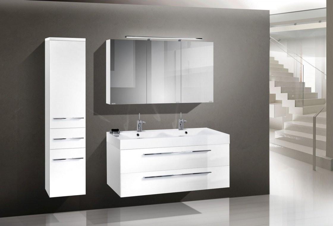 Design Badmöbel Set 120 Cm Doppelwaschtisch  Designbaeder von Badmöbel Set Villeroy Boch Bild