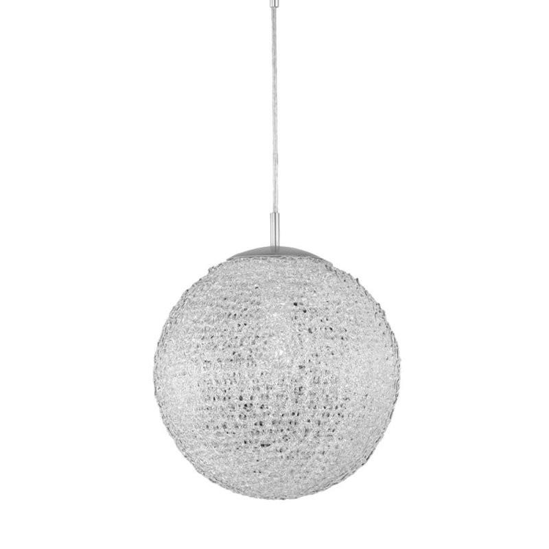 Design Pendel Leuchte Decken Beleuchtung Alu Kugel Chrom Hänge Lampe von Lampen Von Paul Neuhaus Bild