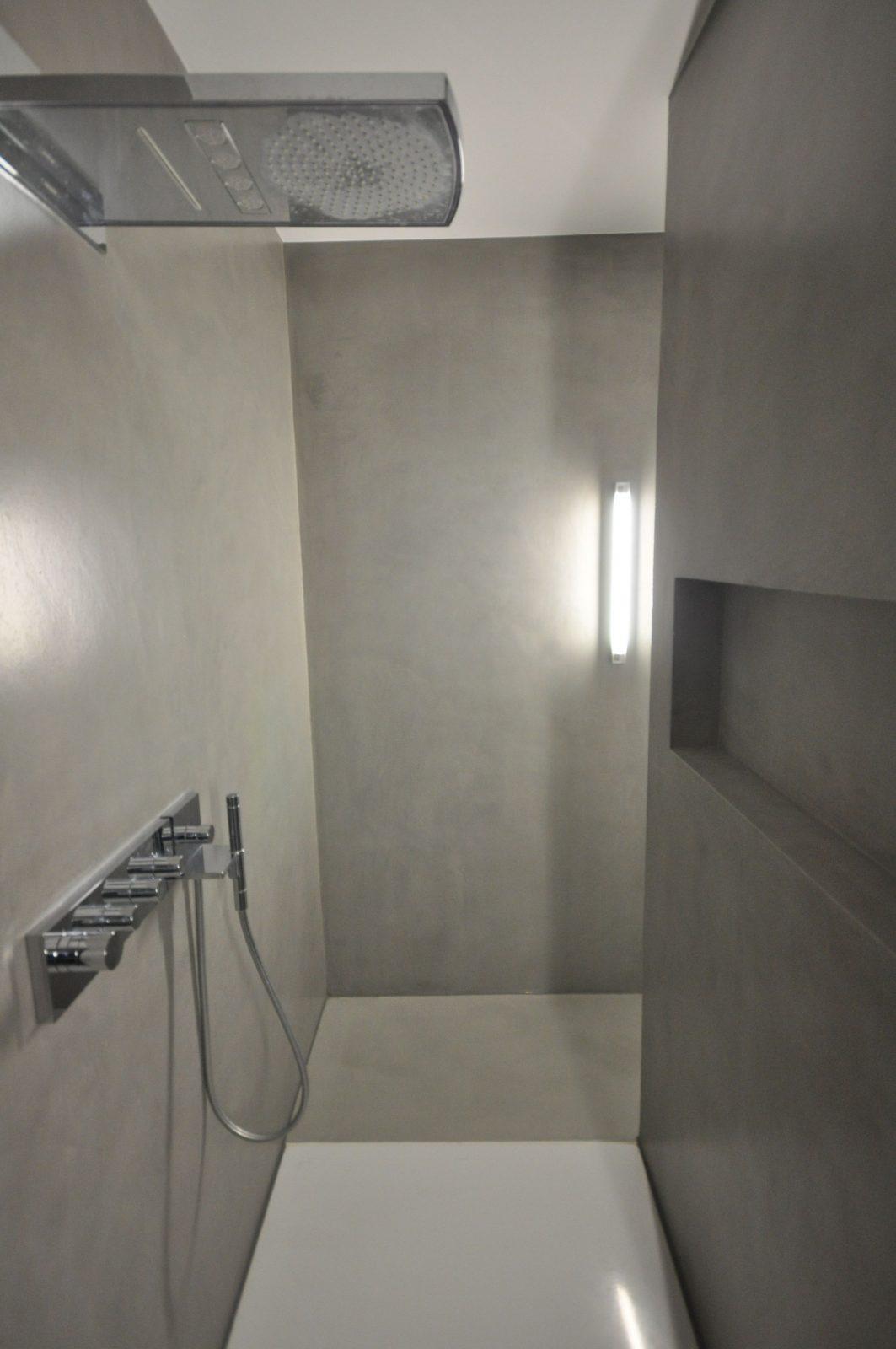 Designbad • Kalkmarmorputz • Dusche • Fugenlos  Putz Im Bad In von Kalk Marmor Putz Selber Machen Photo