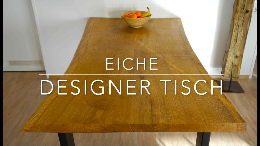 Designer Tisch Selber Bauen  Anleitung ☆Mrhandwerk ☆  Youtube von Rustikaler Holztisch Selber Bauen Photo