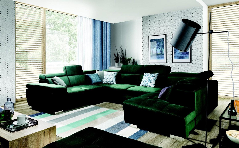 Designer Wohnlandschaft In Hochwertigen Stoffen Textil Samt Günstig von Günstige Wohnlandschaft U Form Photo