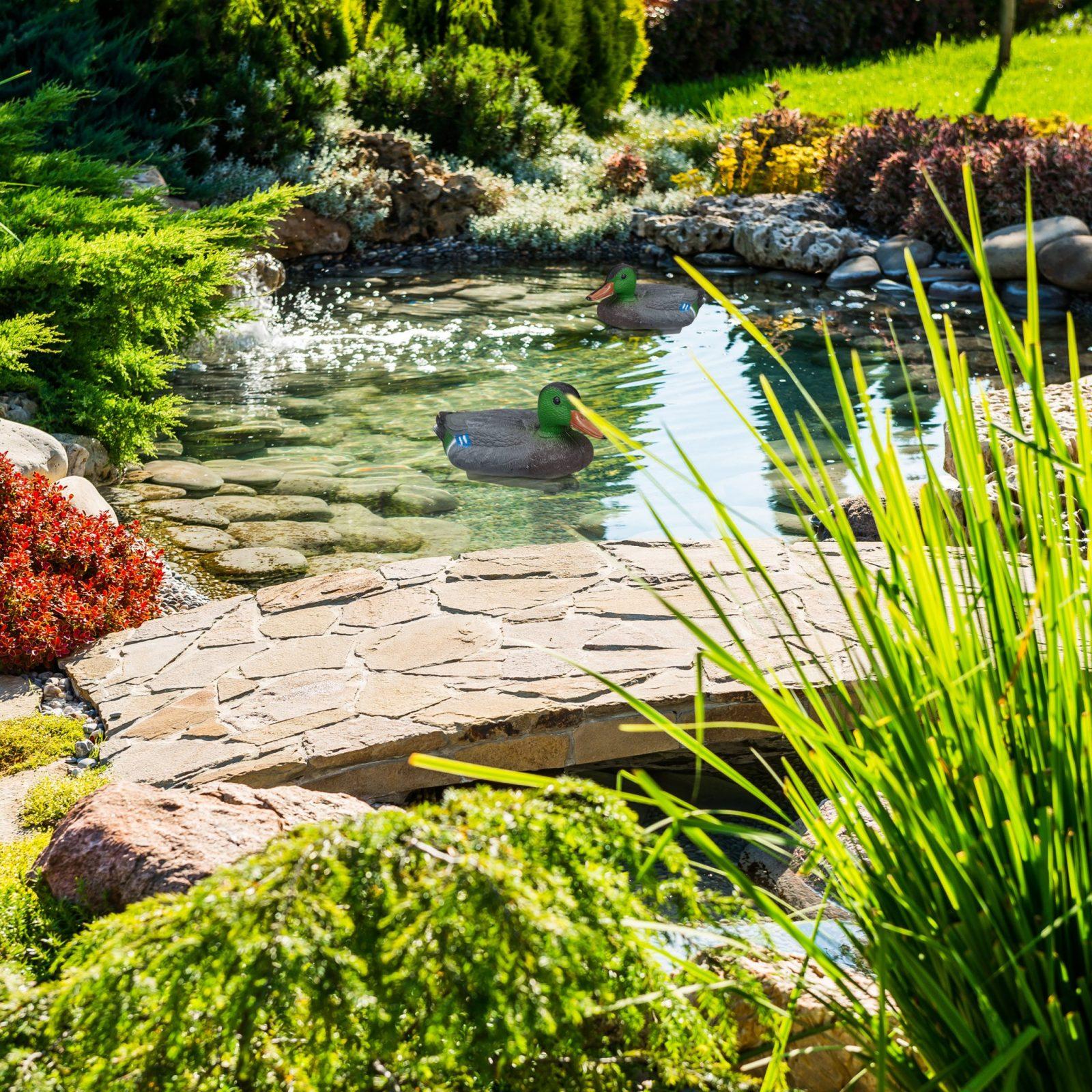 Details Zu Teichente Lockente Schwimmente Dekoente Kunststoff Ente  Schwimmen Teich Garten von Gartenteiche Aus Kunststoff Gebraucht Photo