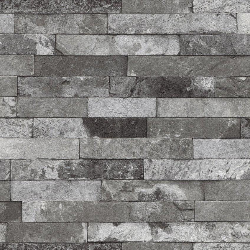 Details Zu Vliestapete Steinoptik Ziegel Grau Schwarz Weiß Rasch Factory 2  Tapete 475135 (2 von Rasch Factory Stein Optik Mauer Vlies Tapete Bild