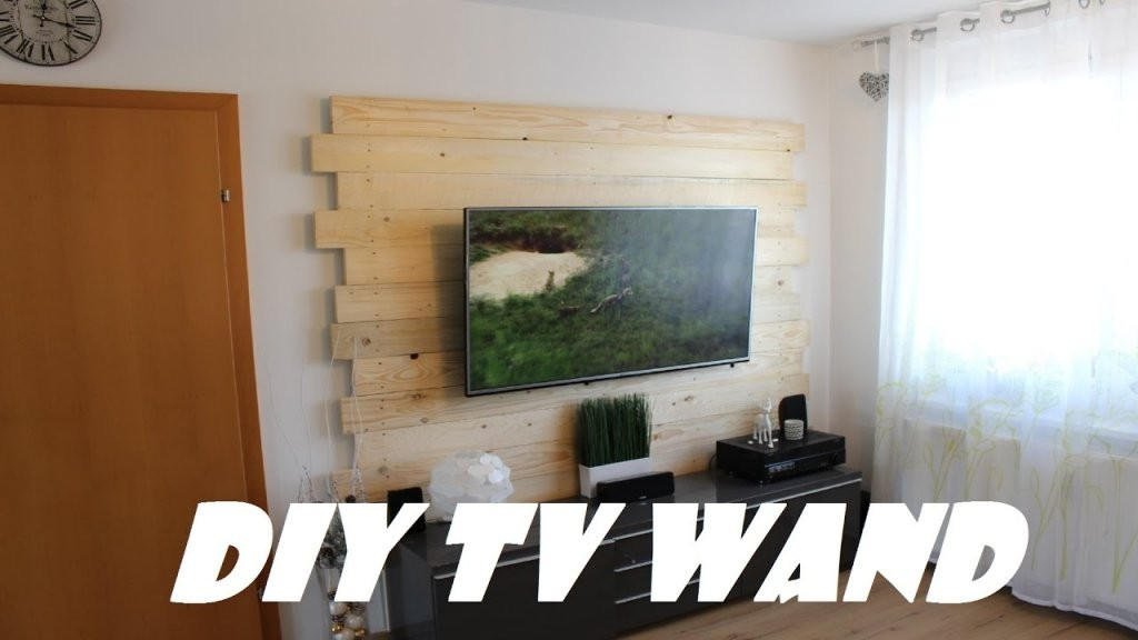 Die 65 Euro Diy Fernsehwand Selbstgebaut  Youtube von Fernsehwand Selber Bauen Anleitung Bild
