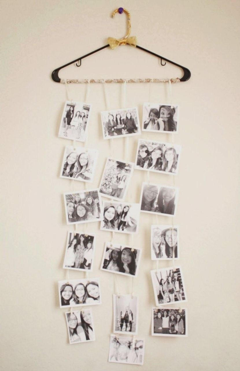 Die Beste Geschenk Idee Für Weihnachten  Kleiderbügel Als von Fotocollage Selber Machen Ideen Photo