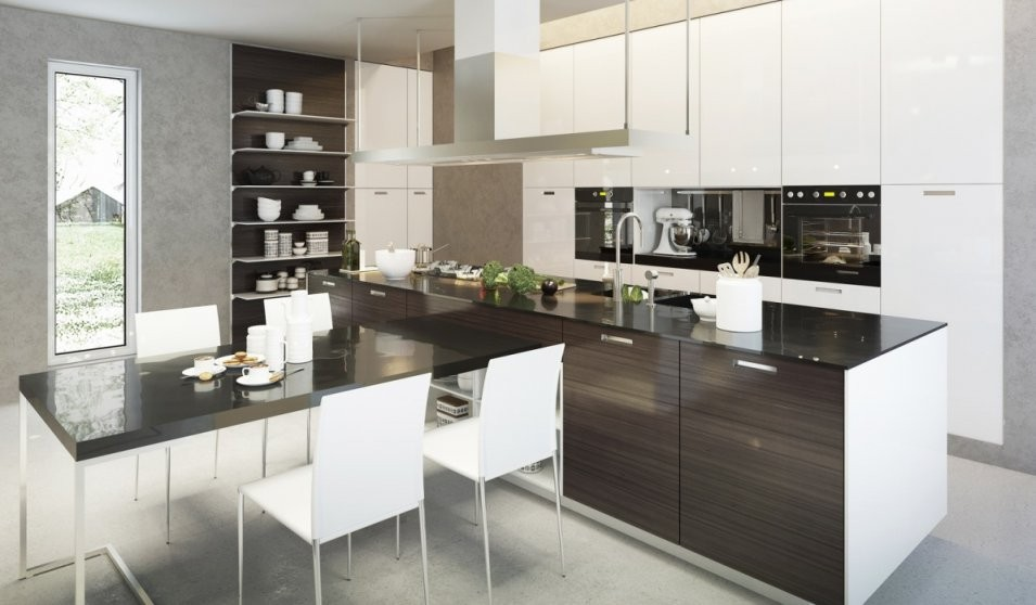 Die Luxusküche Auf Küchenliebhaber von Luxus Küche Mit Kochinsel Photo
