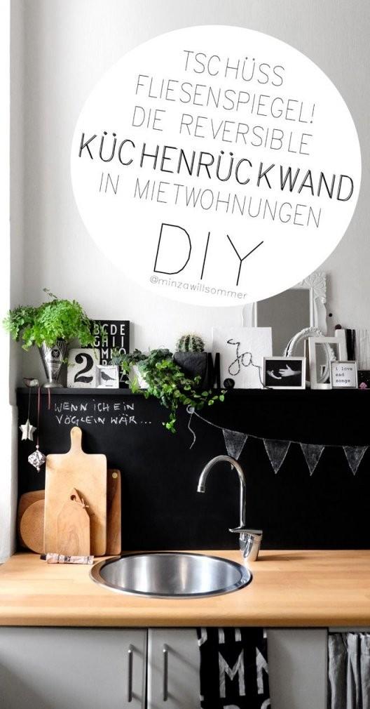 Die Reversible Küchenrückwand  Diy Deko  Decor  Fliesenspiegel von Spritzschutz Küche Selber Machen Bild