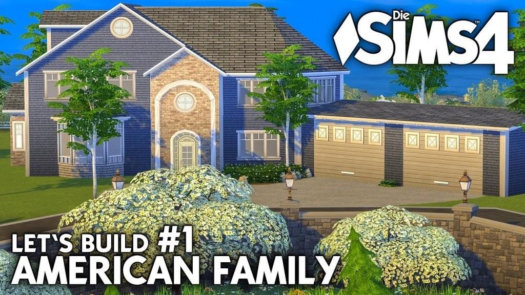 Die Sims 4 Haus Bauen  American Family 1 Grundriss (Deutsch von Sims 4 Häuser Zum Nachbauen Bild
