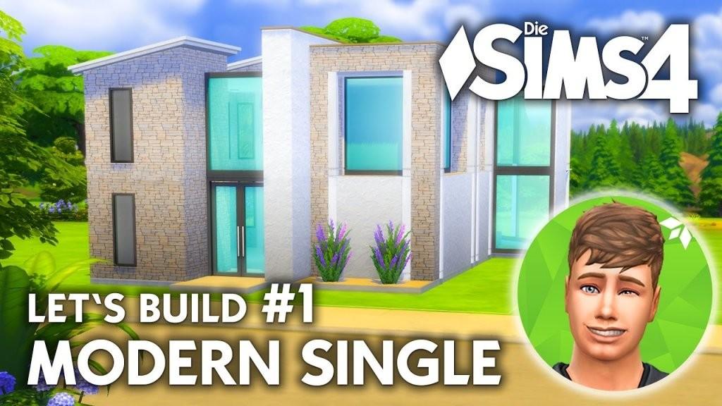 Die Sims 4 Haus Bauen  Modern Single 1  Let's Build (Deutsch von Sims 4 Häuser Zum Nachbauen Photo