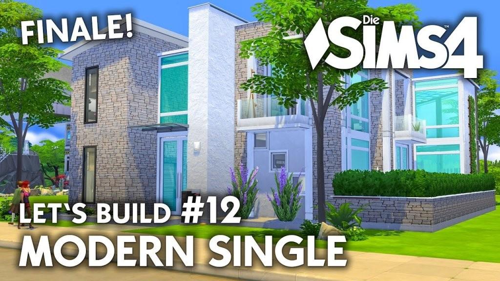 Die Sims 4 Haus Bauen  Modern Single 12  Let's Build (Deutsch von Sims 4 Häuser Zum Nachbauen Bild