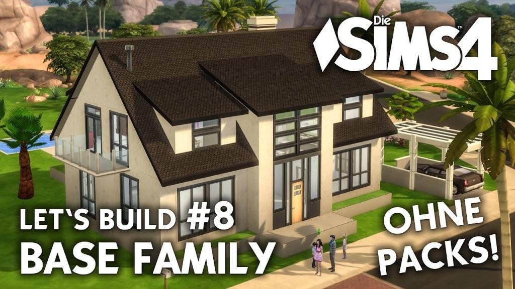 Die Sims 4 Haus Bauen Ohne Packs  Base Family 8 Badezimmer von Sims 4 Haus Bauen Photo