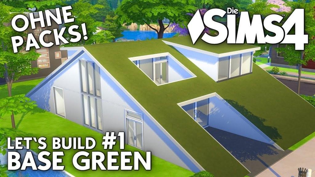 Die Sims 4 Haus Bauen Ohne Packs  Base Green 1 Grundriss (Deutsch von Sims 4 Haus Bauen Bild