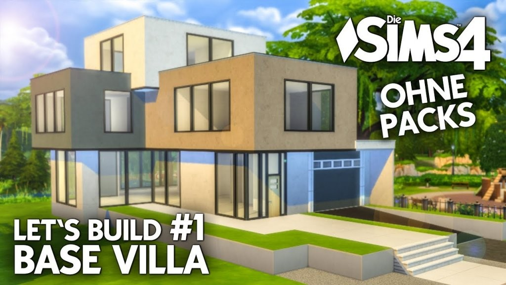 Die Sims 4 Haus Bauen Ohne Packs  Base Villa 1 Grundriss (Deutsch von Sims 4 Häuser Zum Nachbauen Photo