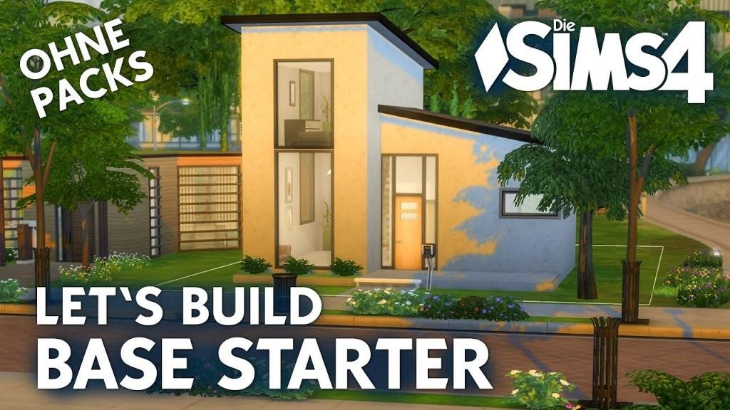 Die Sims 4 Let's Build Base Starter  Haus Bauen Ohne Packs  Youtube von Sims 4 Haus Bauen Photo
